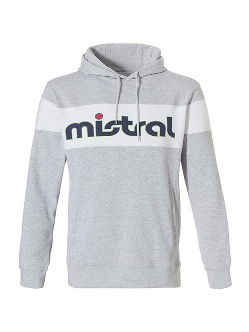 Mistral Reverse Logo Hooded Sweat Shirt Grey