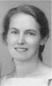 Black and white photo of young woman