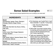 Sense Salad Examples