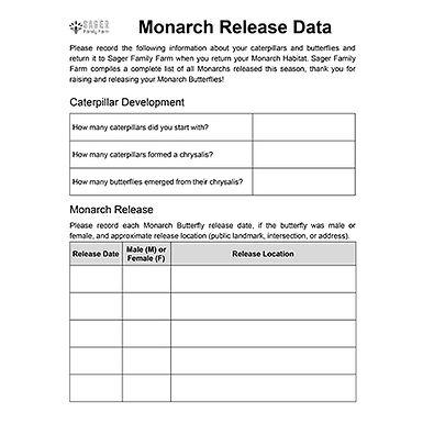Monarch Release Data
