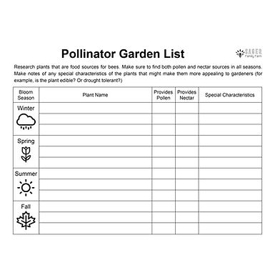 Pollinator Plant List
