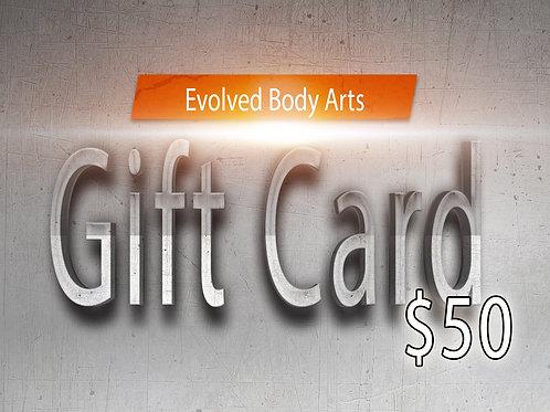 E.B.A Gift Card $50
