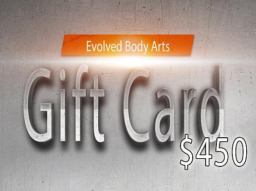 E.B.A Gift Card $450
