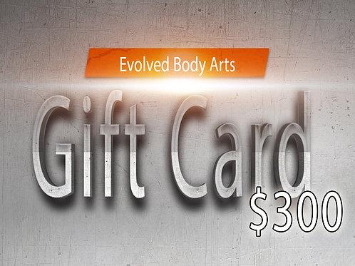 E.B.A Gift Card $300