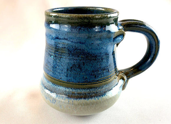 "Blue and White Stoneware Mug 4 - 4"" x 5"""