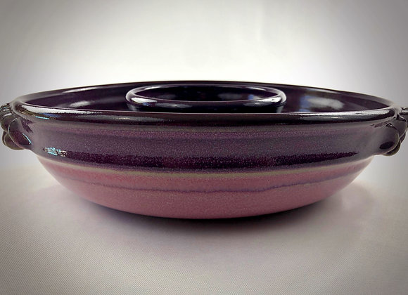 "Purple an Pink Chip & Dip Bowl with Handles - 13"" x 3.5"""