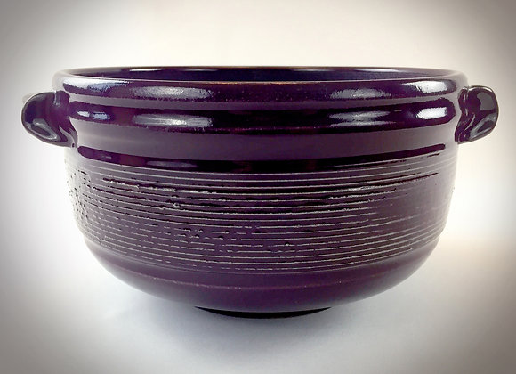 """Large Purple Bowl with Handles - 12.25"""" x 6.25"""""""