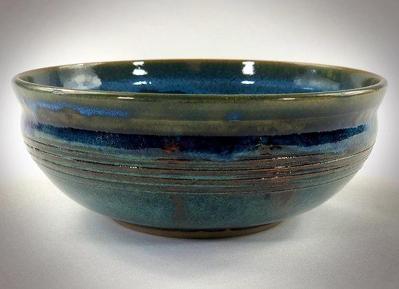 "Medium Blue & Blue Green Bowl - 7"" x 2.75"""