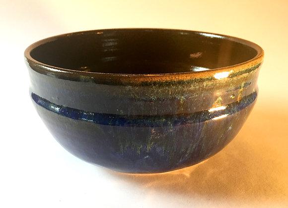 "Blue / Green and Reddish Brown Bowl - 3.75"" x 7.5"""