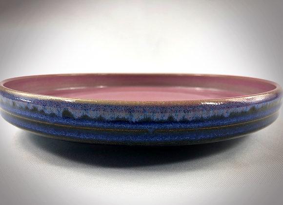 "Medium Pink & Blue Platter - 9.25"" x 1.5"""