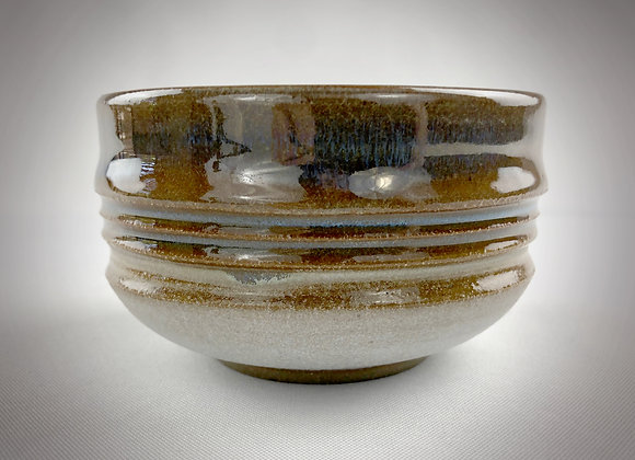 """Small Green Brown and White Bowl - 4.5"""" x 3"""""""