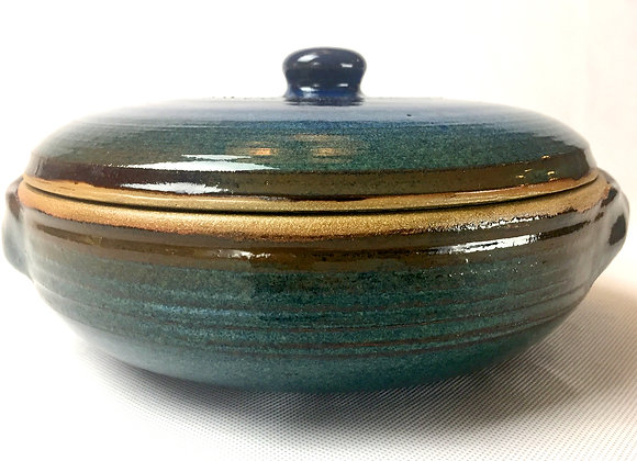 "Blue Green and Blue Casserole Dish- 5.5"" x 11"""