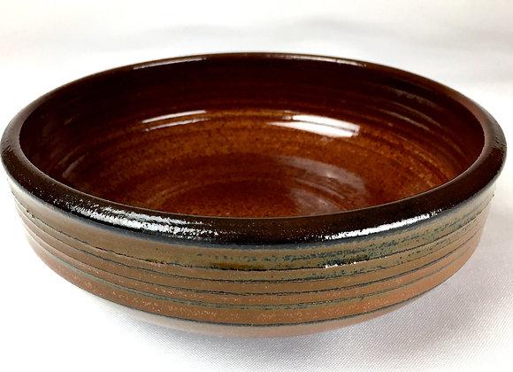 "Small Reddish Brown and Tan Bowl 2 - 2.5"" x 7.25"""