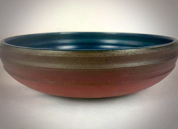 """Blue and Brown Platter - 11"""" x 3"""""""