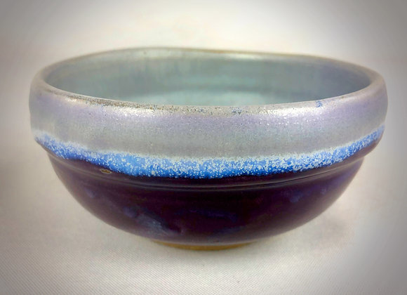 """Small Purple and White Bowl - 5"""" x 3"""""""