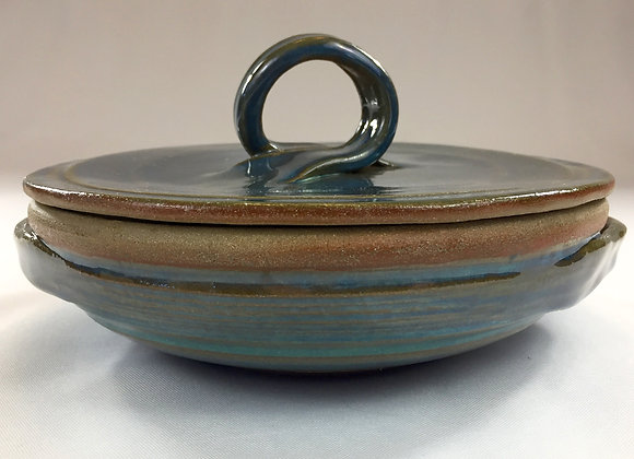 "Blue Brown Tortilla Warmer - 10.5"" x 4"""