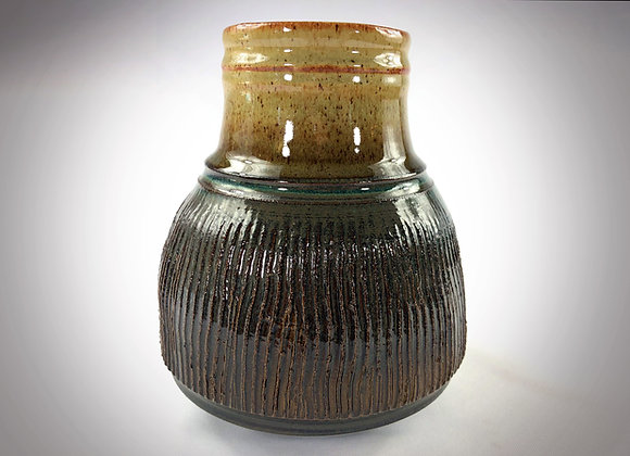 """Brown and Blue Green Vase - 6.75"""" x 8.25"""""""