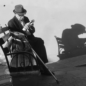 Man Reading on Bench, San Miguel de Allende