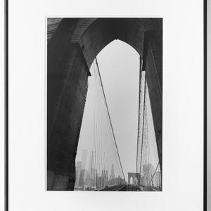 Twin Towers and Brooklyn Bridge, 2001.