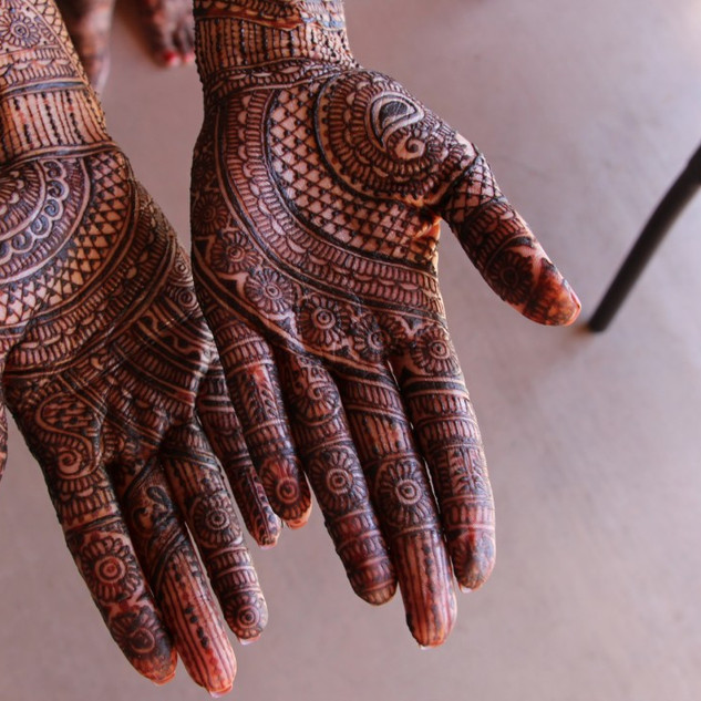 Traditional North Indian Hindu Wedding Mehndi (Henna) Ceremony