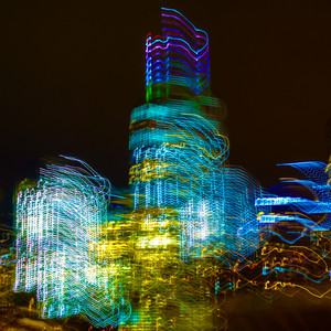 Neon Light Trails, Freedom Tower