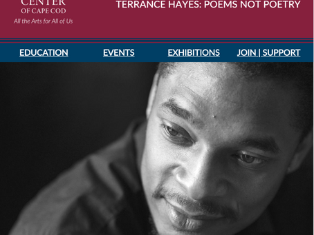 THE WEEKLY MUSE - Terrance Hayes: Poems Not Poetry