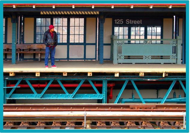 Waiting for the 'A' Train-NYC
