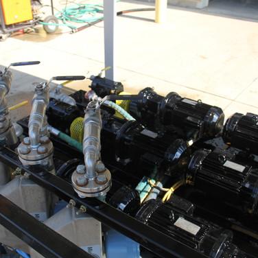 Chemical pump skid fabrication process