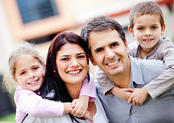 Family choosing the best school