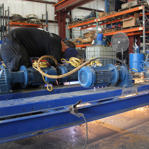Chemical pump skid fabrication process