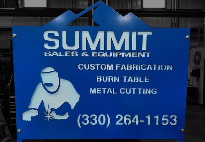 Summit Sales & Equipment Sign
