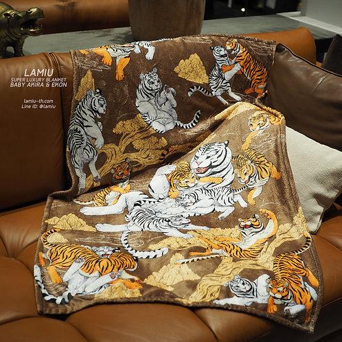 ผ้าห่มขนนุ่ม Super Luxury ลายBaby Akira & Baby Ekon