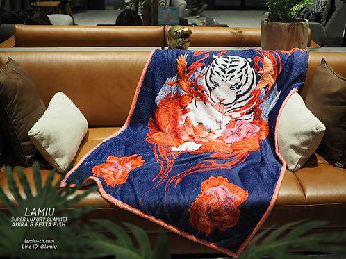 ผ้าห่มขนนุ่ม Super Luxury ลาย Akira & Betta Fish