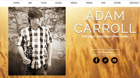 Adam Carroll Website