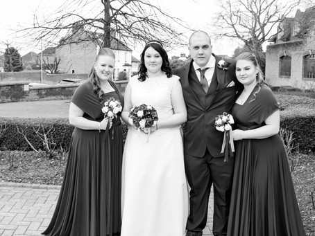 Mr and Mrs Lancashire's wedding day.