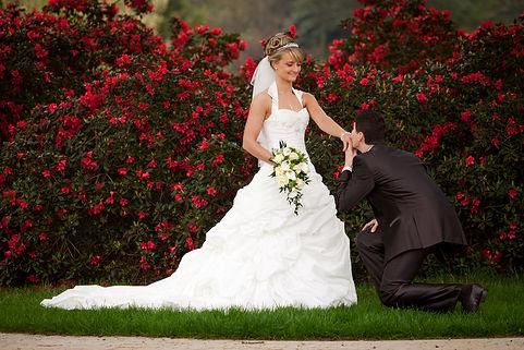Wedding Photo of happly married couple