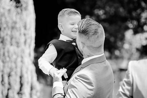 Father and son | Ring bearer | Copthorne wedding photogrpaher | Sussex wedding photographer