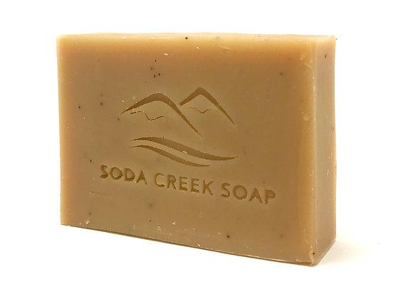 Organic Coffee Mint Scrub Soap Bar