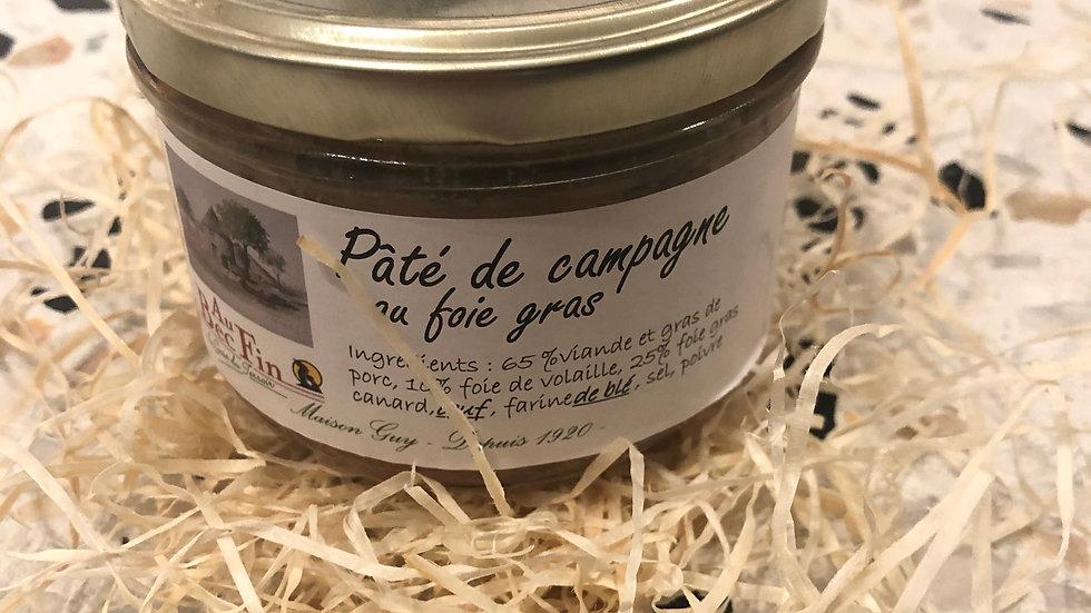 Pâté de campagne au foie gras 180g