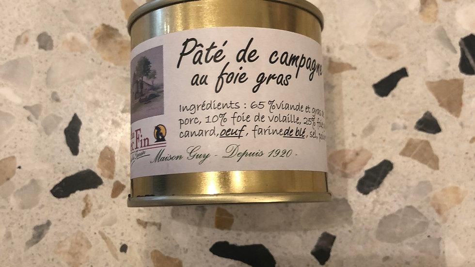 Pâté de campagne au foie gras 90g