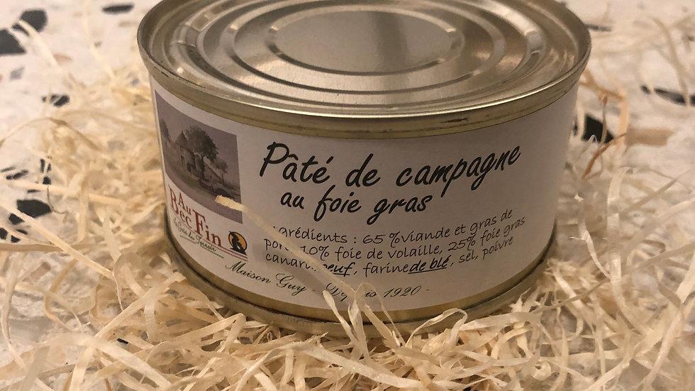 Pâté de campagne au foie gras 190g
