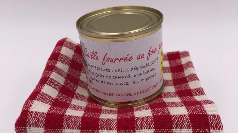 Caille fourrée au foie gras 90 g