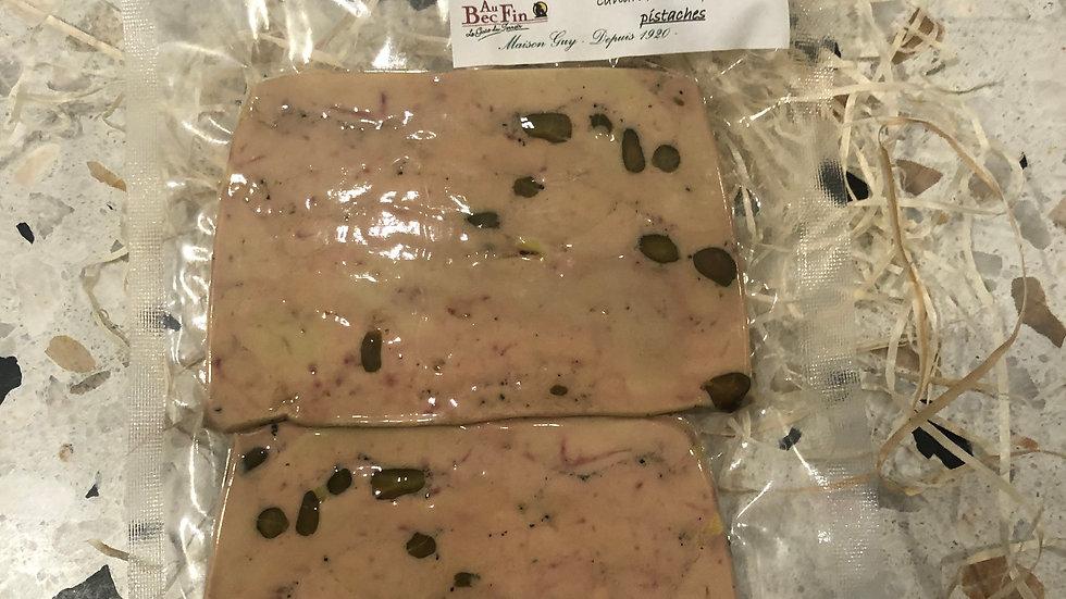 Foie gras mi cuit pistache 108 g