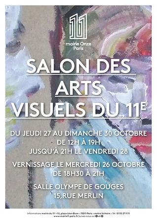 isabelle bourzat, exposition au salon des arts visuels du 11ème