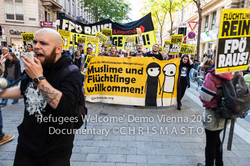 REFUGEES WELCOME MARCH