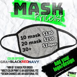Mask Pricelist