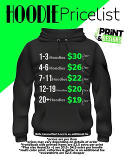 Hoodie Pricelist