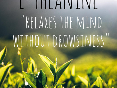 L-theanine combats stress, helps you stay focused