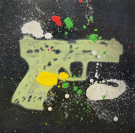 GUN MAN 44cm x 44cm