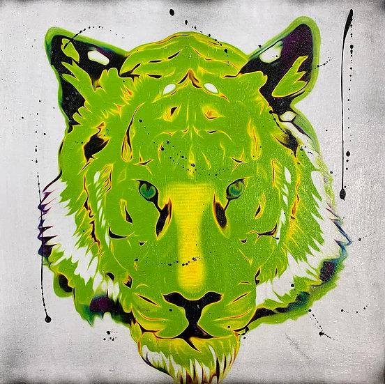 GREEN TIGER 70cm x 70cm